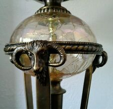 Bombay & Co Bronze, Marble, Irridescent Glass Ram Head Table Lamp