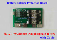 Battery Protection BMS Board Balance Charge for 3S 11.1V 12V 40A Lithium battery