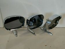 1960's -1970's Ford Side Mirror Hooded Chrome Left Right - Lot of Three