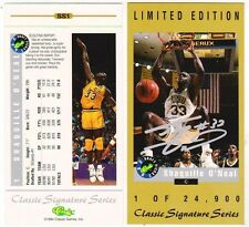 Lot of 10 1994 Classic Signature Series SS1 Shaquille O'Neal Tall Card 1/24,900