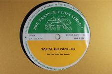 BBC 319 Transcription Disc TOP of  POPS Live Led Zeppelin Hollies Dave Edmunds