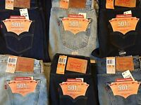 Mens Levis Strauss 501 CT Jeans Button Fly Customized & Tapered Leg Original Fit