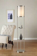 Artiva USA Exeter Modern 63-inch Brushed Steel Floor Lamp