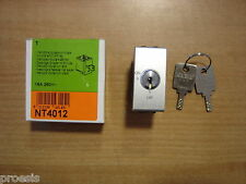 BTICINO NT4012 Light Tech interruttore 2P 16A a chiave ON OFF