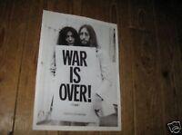 John Lennon War is Over BW POSTER