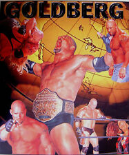 WRESTLING POSTER~Bill Goldberg WWF Humane Society Coke Surge Collage WCW Print~