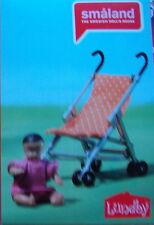 Baby mit Buggy Kiinderwagen Sportwagen Puppenhaus Lundby