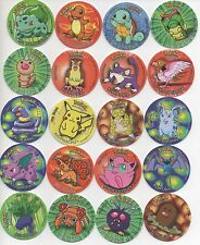 Pokemon - RARE Set of 1 to 50 - 1st Series Pogs Tazos Taps Taso Milk Caps Chips