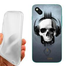 CUSTODIA COVER CASE TPU TESCHIO CUFFIE PER WIKO SUNSET 2