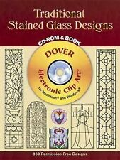Traditional Stained Glass Designs CD-ROM and Book Dover Electronic Clip Art)