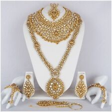 Indian Bollywood Style Fashion Gold Plated Bridal Jewelry Necklace Set 8887