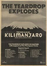 25/10/80PN29 ADVERT: THE TEARDROP EXPLODES ALBUM KILIMANJARO 15X11