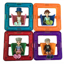4 Pcs Doll Square Similar Magformers Toys Magnetic Building Blocks Magspace Toys