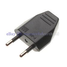 5 x Europlug Type C EU Rewireable Power Plug 220V 2.5A Black Color
