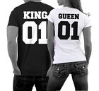 KING & QUEEN Shirt Pärchen Couple T-Shirts Fun Satire Hochzeit Liebe Love WOW