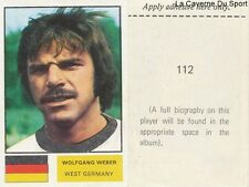 112 WEBER WEST GERMANY STICKER Soccer Stars WORLD CUP 1974 FKS PUBLISHER