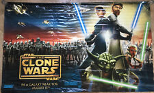 STAR WARS THE CLONE WARS MOVIE POSTER BANNER ORIGINAL VERY RARE 96x60