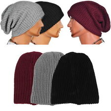 Men Knitting Slouchy Beanie Cap Baggy Winter Hat Oversize Unisex