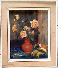 Still Life with Watch. Original Oil on Cardboard Painting  by Solomonovich