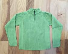 EUC BOY GYMBOREE AVIATOR GREEN HALF ZIP PULLOVER SWEATER TOP SHIRT 9 10
