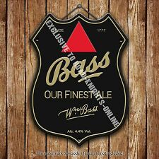 Bass Bitter Ale Beer Advertising Bar Old Pub Metal Pump Badge Shield Steel Sign