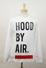 New. HOOD BY AIR White Cotton Logo Print Casual Crewneck T-Shirt Size L $300