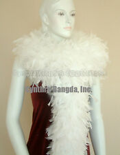 180g Snow White Chandelle Feather Boa, Largest in eBay Quality for Stage Solid