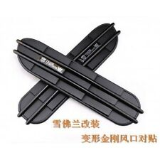 Side Vent Fender Decorative shark Grille Transformers Autobot Decepticon Black
