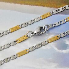Vogue Womens Gold Filled Filled/Silver 56cm Box Chain  Necklace Fashion