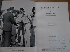 AUTOBIOGRAPHY CRICKET IS MY LIFE by LEN HUTTON Yorkshire & England Real photos