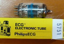5751 = 12AX7 SUBSTITUTE AUDIO NOS NIB PHILIPS *matched pairs available*