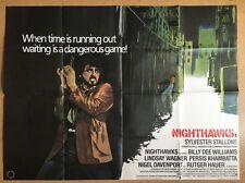 Nighthawks - Original British Quad Movie Poster Cult Cinema Film, Stallone