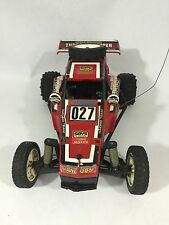 Vintage Tyco Red TURBO HOPPER RC 27Mhz 2-Speed Remote Control Car Off-Road Buggy