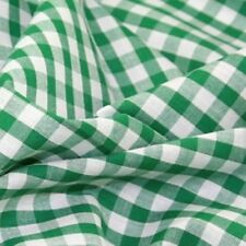 GINGHAM POLY COTTON CHECK TABLE CLOTH COVER - VARIOUS COLOURS - CUSTOM SIZES