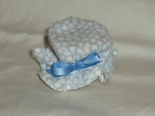 Fisher Price Loving Family Dollhouse Blue & White Heart Ottoman Stool for Couch