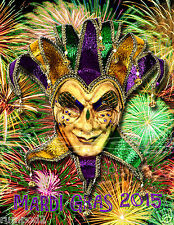 2015  New Orleans Mardi Gras Poster/Print17x22 inches
