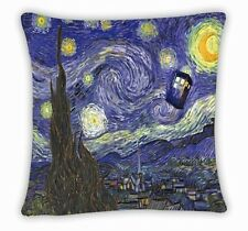 2016 Van Gogh Starry Night Dr Doctor Who Call Box Tardis Cashion PillowCover