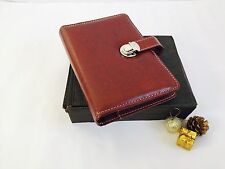 A5 Brown Leather Executive Folder Personal Organiser Diary Organiser Filofax UK