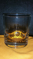 JACK DANIELS OLD NO. 7 TENNESSEE WHISKEY GLASS TUMBLER BARWARE ON THE ROCKS