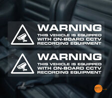ON BOARD CCTV / incar CCTV / Dashboard Camera Warning Sticker / Security Sticker