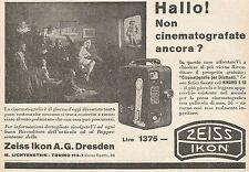 Z0562 Zeiss Ikon - Non cinematografate ancora? - Pubblicità del 1930 - Advert.