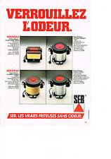 PUBLICITE ADVERTISING  1980   SEB    la friteuse éléctrique