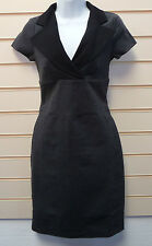REDUCED LADIES GREY & BLACK COLLARED  CASUAL/ FORMAL PENCIL DRESS SZ 16 BNWT