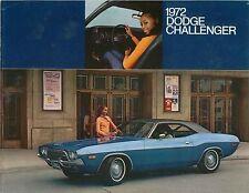 Dodge Challenger & Challenger Rallye 1972 Original Chrysler USA Foldout Brochure