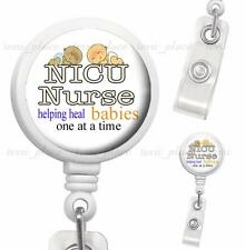 NICU Nurse Clip On Id Badge Reel Retractable Nursing Work Identification Holder