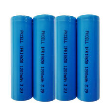 4X PKCELL IFR18650 10-20A 3.2V 1200mAh LiFePO4 IFR 18650 Rechargeable Battery