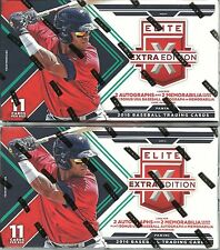 (2) 2016 Panini Elite Extra Edition Baseball MLB Trading Cards Retail Box LOT