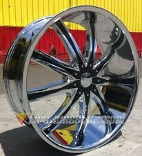 22 INCH DW29 CHR RIMS AND TIRES 5X127 IMPALA SS CAPRICE GRAND CHEROKEE C10