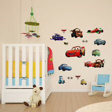 Racing Cars Lighting McQueen Wall Decals Sticker Nursery Room Decor Removable