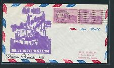 87398) Helikopterpost USA , New Brunswick - Newark 8.6.53, signed